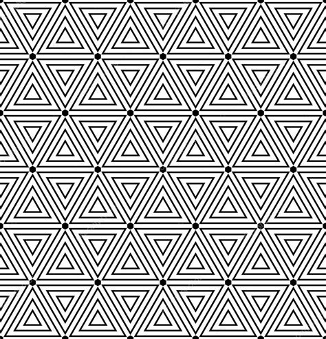 Hexagons and triangles texture Seamless geometric pattern