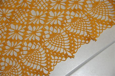 crochet grand napperon ovale orange tutoriel gratuit