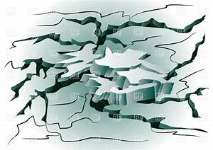Earthquake - abstract background with cracked ground ...