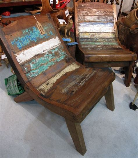 Recycled Boat Wood Furniture