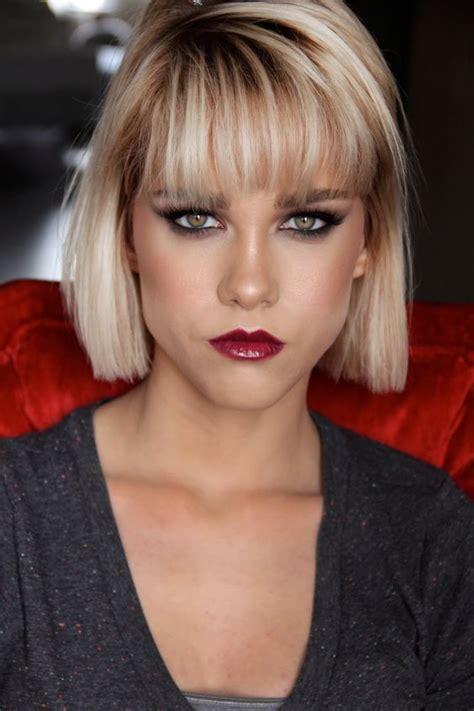 Dramatic Makeup Bangs Winged Liner Pinterest