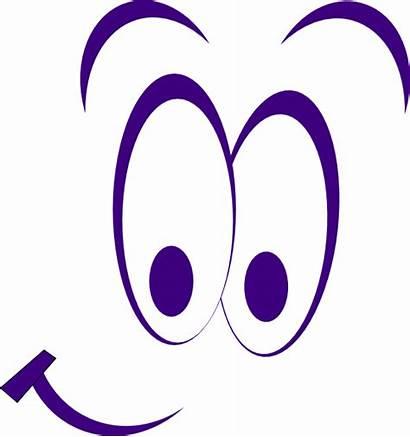 Eyes Cartoon Clip Clipart Purple Smiley Sleepy