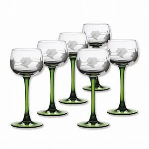 Verre A Vin : verre vin d 39 alsace verres grav s pied vert bruno evrard ~ Teatrodelosmanantiales.com Idées de Décoration