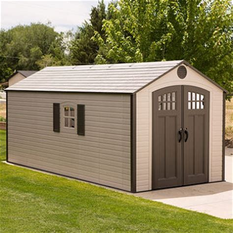sams club vinyl outdoor storage sheds lifetime 8 x 17 5 storage shed sam s club