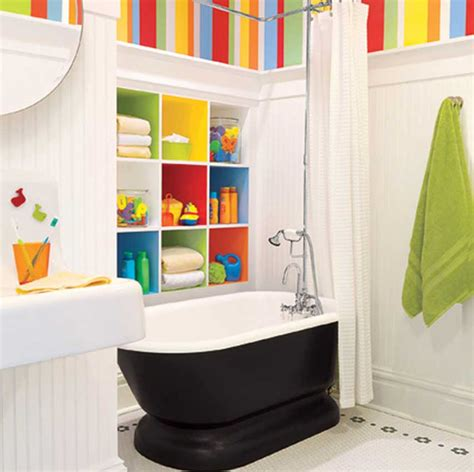 Bathroom Decor For Kids With White Wall Ideas Home