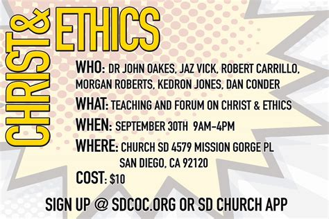 Weekend Workshop On Ethics And Christianity  Evidence For