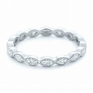 Custom marquise diamond eternity wedding band 102287 for Marquise engagement rings with wedding band