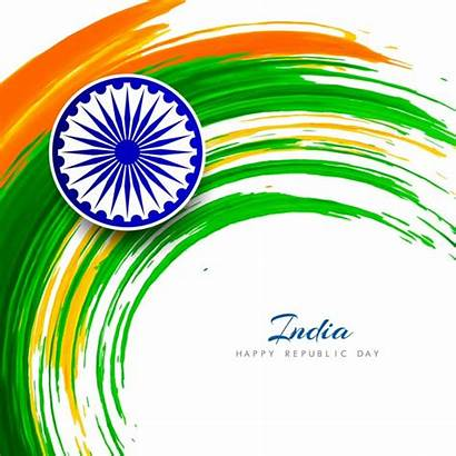 Republic Background Flag Indian India Vector Happy