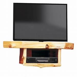Log Corner TV Shelf with DVR/DVD Shelf