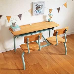 Bureau écolier Vintage : table ecolier ~ Nature-et-papiers.com Idées de Décoration