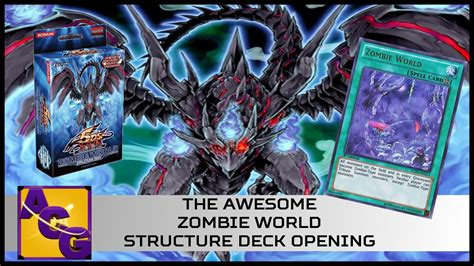 The Awesome Zombie World Structure Deck Opening Youtube