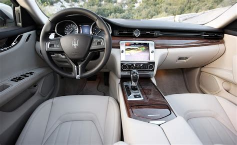 maserati quattroporte interior car and driver