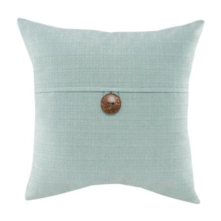 Throw Pillows For Walmart by Mainstays Dynasty Coconut Button Accent Decorative Throw