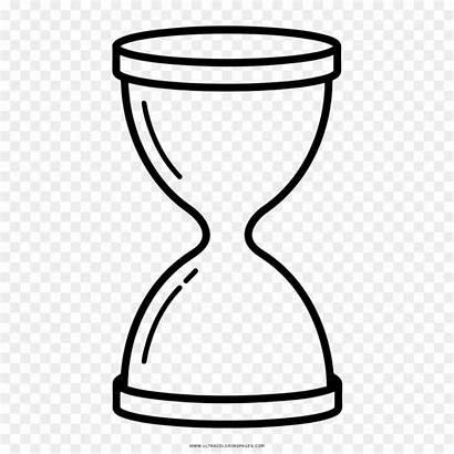 Hourglass Coloring Drawing Reloj Ampulheta Desenho Line