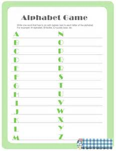 Alphabet Baby Shower Word Game