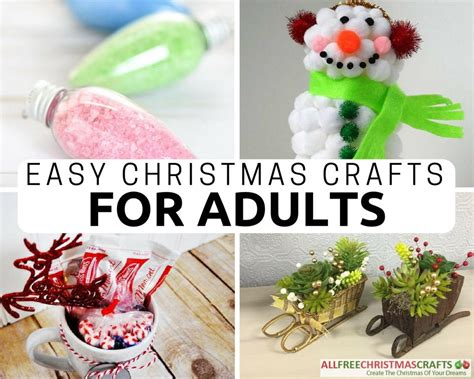 easy christmas crafts  adults