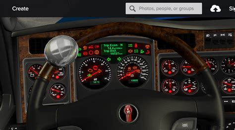 Kenworth Dash Warning Lights by Speedometer Km H Kenworth W900 And Rework Textures