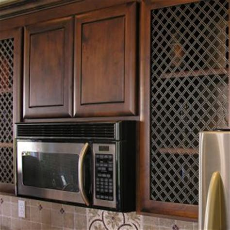 wire mesh kitchen cabinets ideas for using decorative wire grilles official of 1558