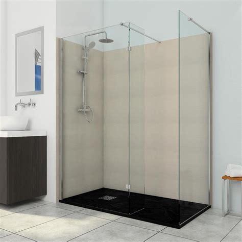 1700 Shower Enclosure - vision 1700 x 800 10mm hinged walk in shower enclosure inc