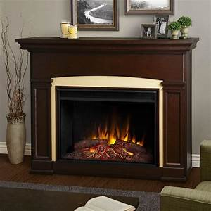 Real Flame Silverton 48 in. Electric Fireplace in Black ...
