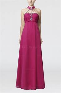 hot pink elegant empire sleeveless backless paillette With backless wedding guest dresses
