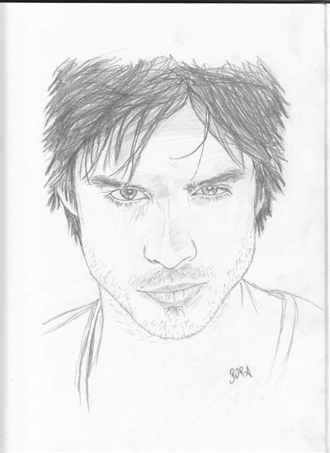 I made this in about a. Ian Somerhalder | Karakalem Portre - Drawing & Sketch ...