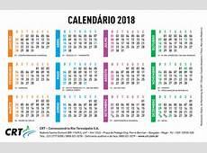 Calendário CRT CRT Concessionária Rio Teresópolis