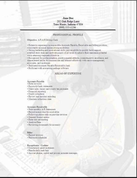 15085 applicant resume sle for clerk cover letter exles accounting clerk 28 images cover