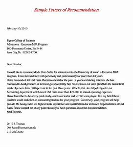 7, Mba, Recommendation, Letter, Pdf, Word, Doc