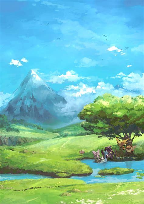 Snow mountain galaxy view sky. Pokemon Landscape Wallpapers - Top Free Pokemon Landscape Backgrounds - WallpaperAccess