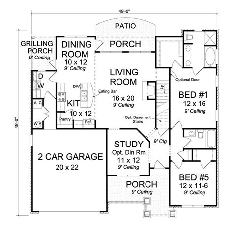 houseplans  red oak   story traditional house