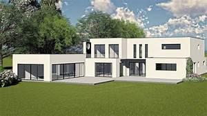 Maison Contemporaine Avec Toiture Terrasse  Avec Images