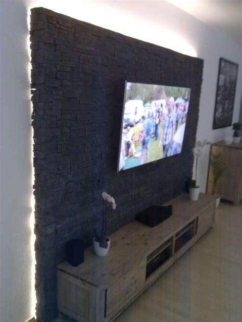 Wohnwand Für Große Fernseher by Bildergebnis F 252 R Holzwand Hinter Fernseher Wohnzimmer In