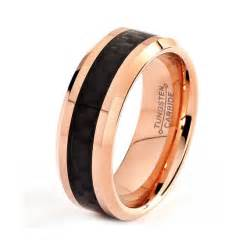 carbon fiber wedding ring mens tungsten carbide wedding band ring 18k gold 8mm custom engr