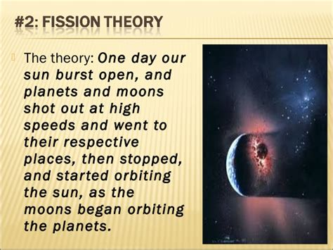 Thoeries of the Origin of Solar System