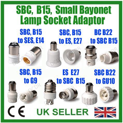 small bayonet sbc b15 light bulb adaptor l socket base