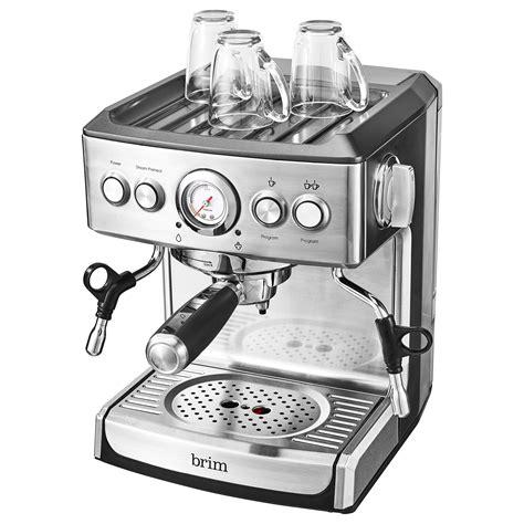 Brim 8 cup pour over coff. 19 Bar Espresso Maker - BRIM