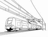 Train Coloring Pages Drawing Electric Railroad Bullet Freight Crossing Cable Passenger Caboose Trains Printable Metro Drawings Thomas Speed Engine Getdrawings sketch template