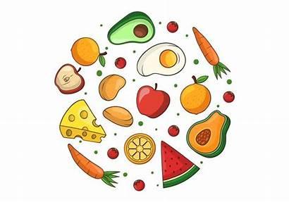 Healthy Clipart Vector Choices Meal Clip Cartoon