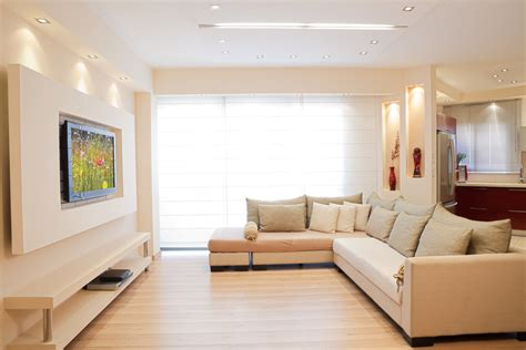 Living Room Color Trends by 20 Ways To Incorporate Wall Mounted Tvs And Shelves Into