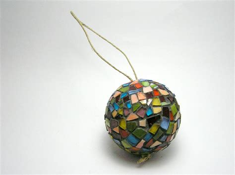 mosaic handmade ornament ball christmas tree and home decor