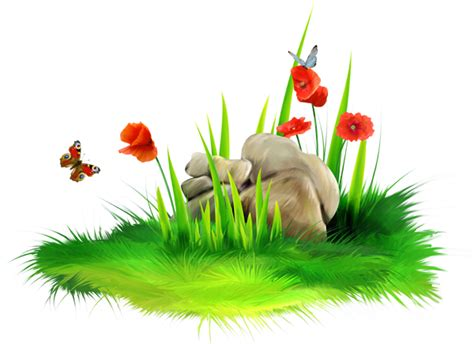 Grass With Stone Png Clipart Picture
