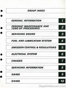 1980 Suzuki Sp400 Dr400 Gn400 Motorcycle Service Manual