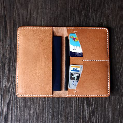 italian vegetable leather passport holdercard case