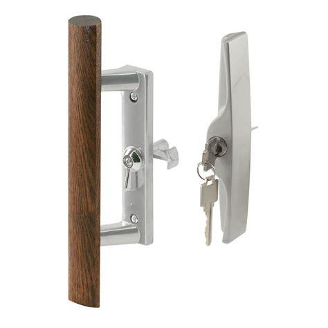 cer screen door latch prime line patio door handle set with wooden handle c 1204