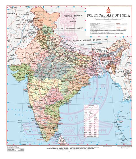 political map  india survey  india