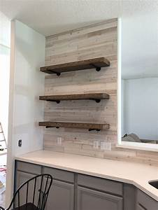 Diy, Floating, Shelves, With, Pipe