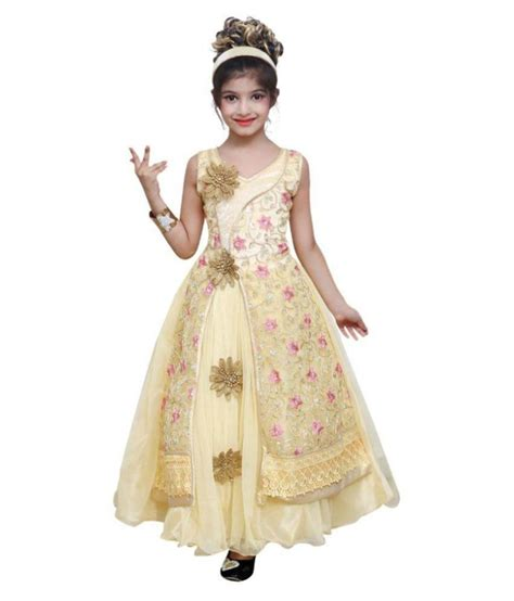 In 5 Introductory Offer Children 39 S Clothes Ishika Garments Beige Dress For Buy Ishika