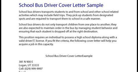 great sample resume school bus driver cover letter sample