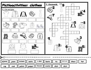esl activities printouts   Labels: clothes , Games ...